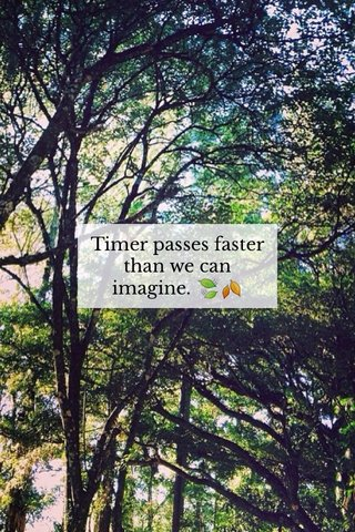 Timer passes faster than we can imagine. 🍃🍂