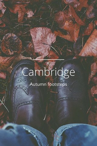 Cambridge Autumn footsteps