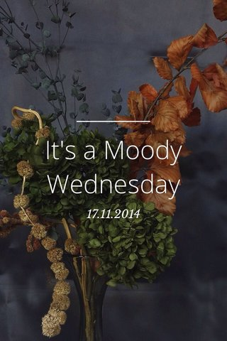 It's a Moody Wednesday 17.11.2014