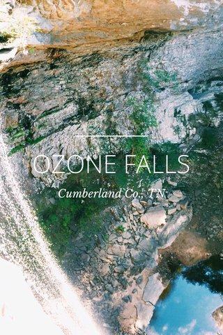 OZONE FALLS Cumberland Co., TN