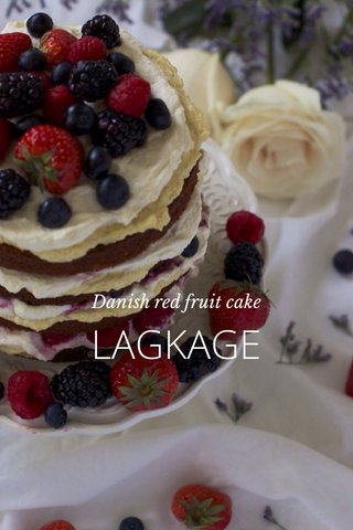 LAGKAGE Danish red fruit cake