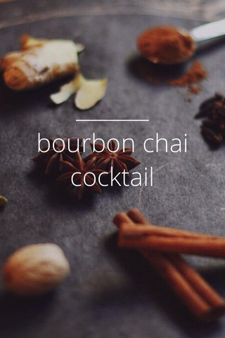 bourbon chai cocktail