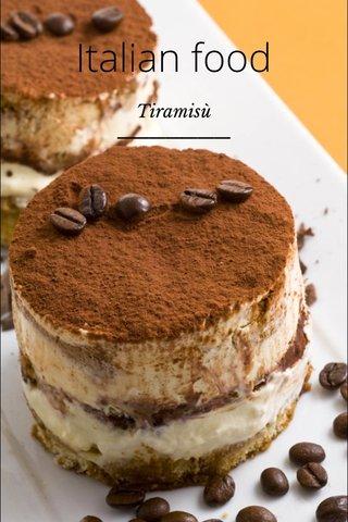 Italian food Tiramisù