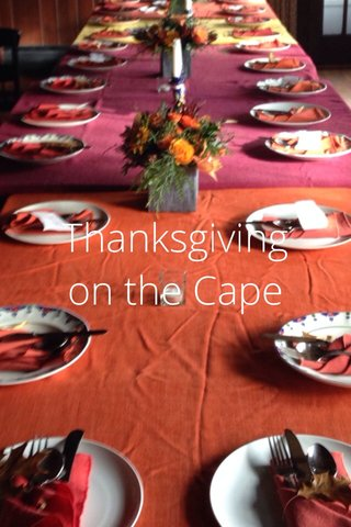 Thanksgiving on the Cape