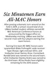 UMass Athletics's (@UMassAthletics) Story on Steller