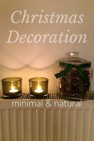 Christmas Decoration minimal & natural