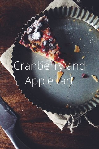 Cranberry and Apple tart