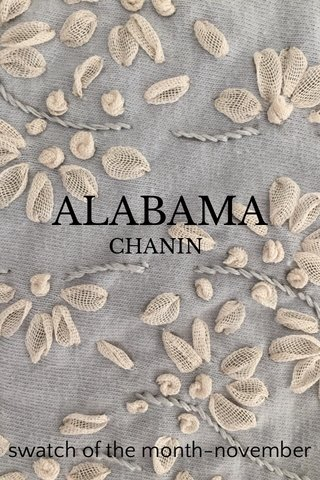ALABAMA swatch of the month-november CHANIN