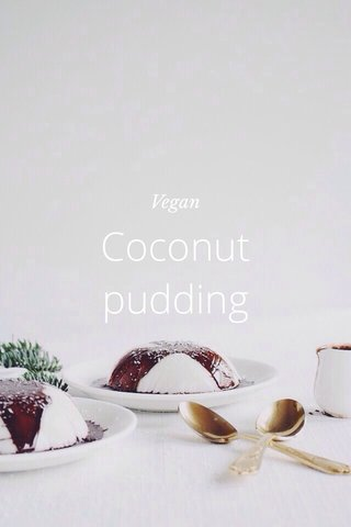 Coconut pudding Vegan