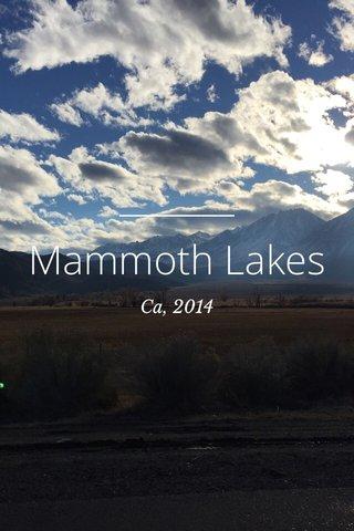 Mammoth Lakes Ca, 2014