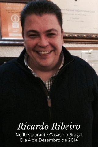 Ricardo Ribeiro No Restaurante Casas do Bragal Dia 4 de Dezembro de 2014