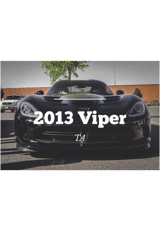 2013 Viper TA