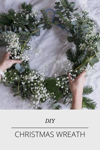 _________________________ CHRISTMAS WREATH DIY