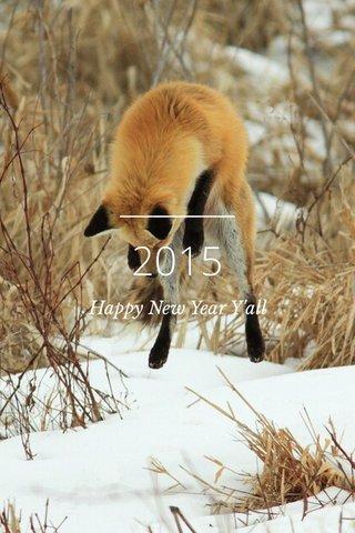 2015 Happy New Year Y'all