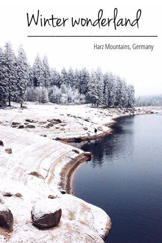 Winter wonderland Harz Mountains, Germany