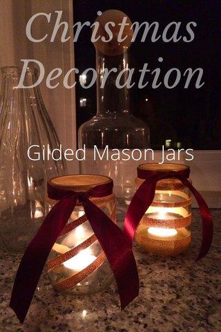 Christmas Decoration Gilded Mason Jars
