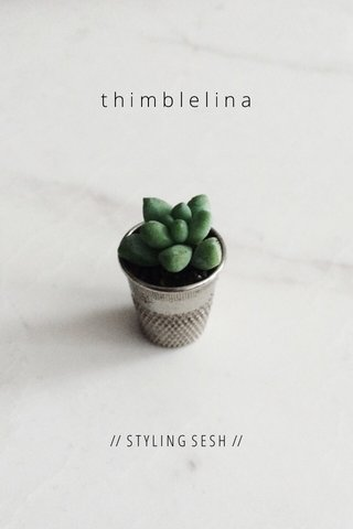 thimblelina // S T Y L I N G S E S H //