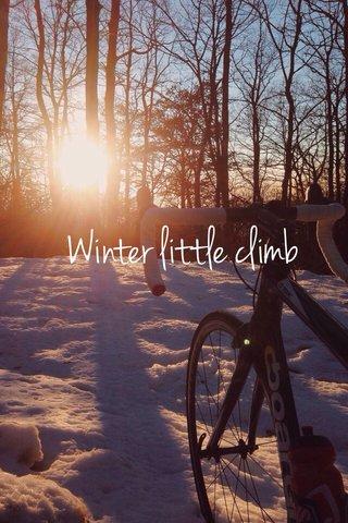 Winter little climb