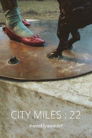 CITY MILES : 22 #weeklywander