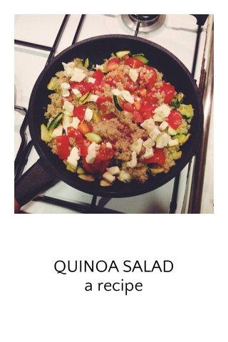 QUINOA SALAD a recipe