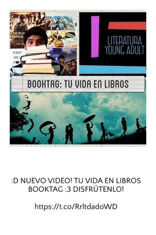 :D NUEVO VIDEO! TU VIDA EN LIBROS BOOKTAG :3 DISFRÚTENLO! https://t.co/RrltdadoWD