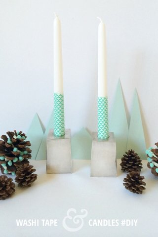 & WASHI TAPE CANDLES #DIY