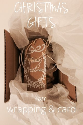 CHRISTMAS GIFTS wrapping & card #DIY
