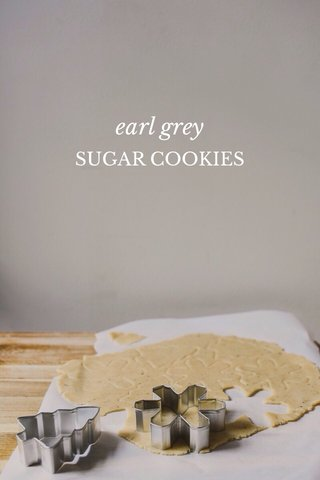 earl grey SUGAR COOKIES