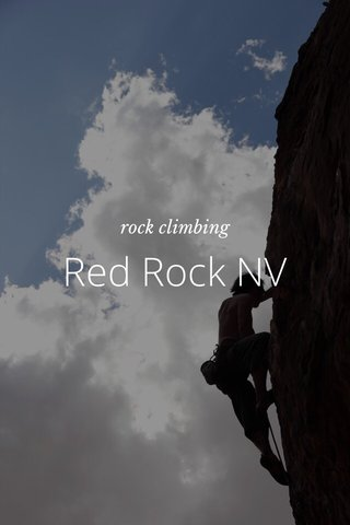 Red Rock NV rock climbing
