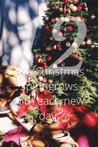 12 The Christmas Spirit grows with each new day.
