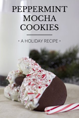 PEPPERMINT MOCHA COOKIES • A HOLIDAY RECIPE •