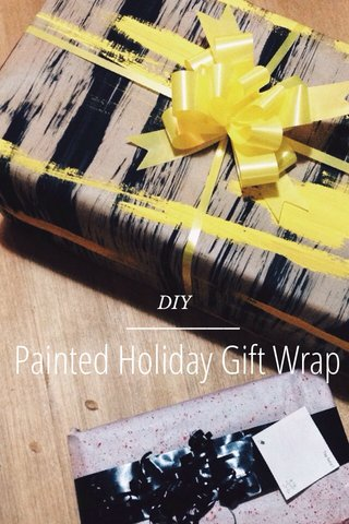 Painted Holiday Gift Wrap DIY