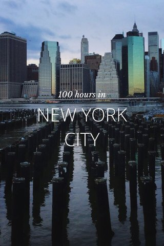 NEW YORK CITY 100 hours in