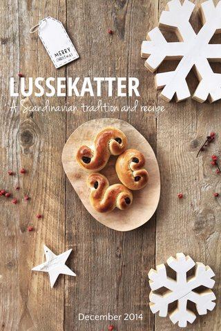 LUSSEKATTER A Scandinavian tradition and recipe December 2014