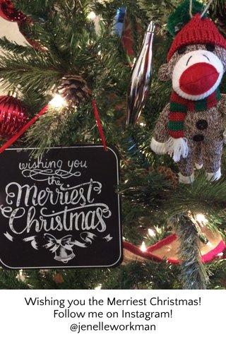 Wishing you the Merriest Christmas! Follow me on Instagram! @jenelleworkman