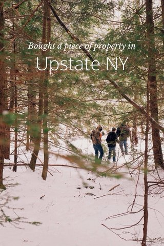 Upstate NY Bought a piece of property in