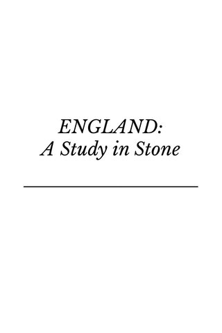 ENGLAND: A Study in Stone