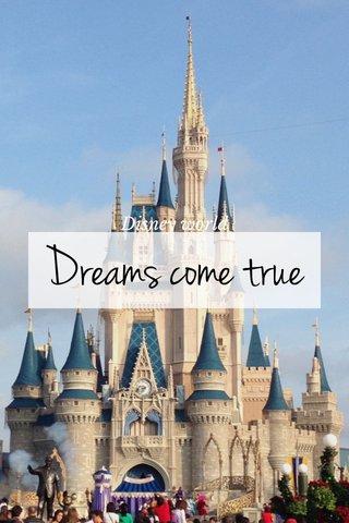 Dreams come true Disney world