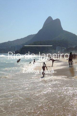 Rio de Janeiro Brasil Leblon beach