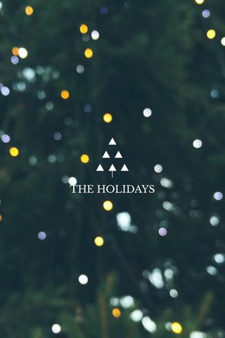 I ▲ ▲ ▲ ▲ ▲ ▲ THE HOLIDAYS