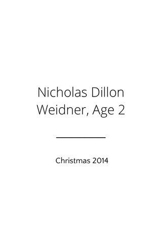 Nicholas Dillon Weidner, Age 2 Christmas 2014