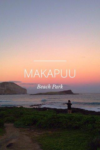 MAKAPUU Beach Park