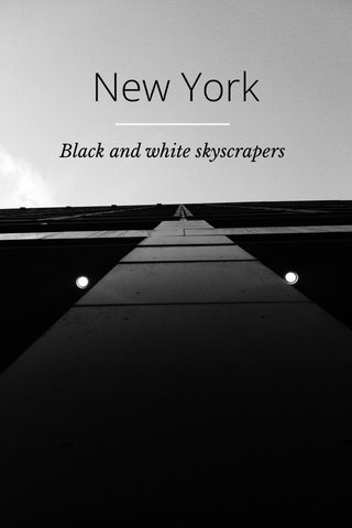 New York Black and white skyscrapers