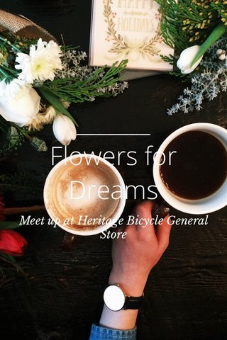 Flowers for Dreams Meet up at Heritage Bicycle General Store