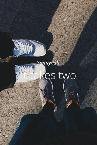 It takes two Sunnyvale