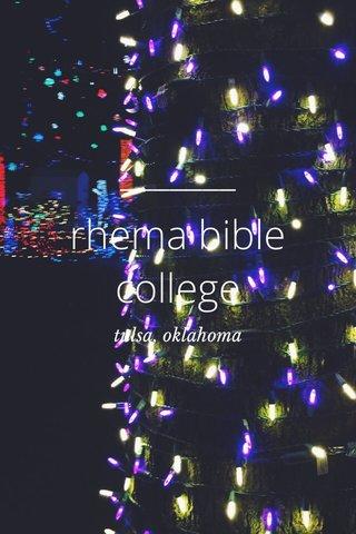 rhema bible college tulsa, oklahoma