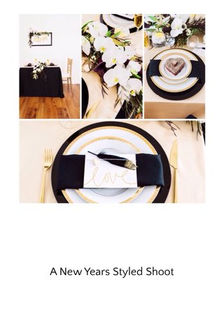 A New Years Styled Shoot