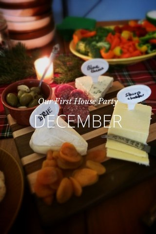 DECEMBER Our First House Party