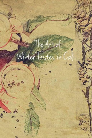 Winter Tastes in Cali The Art of