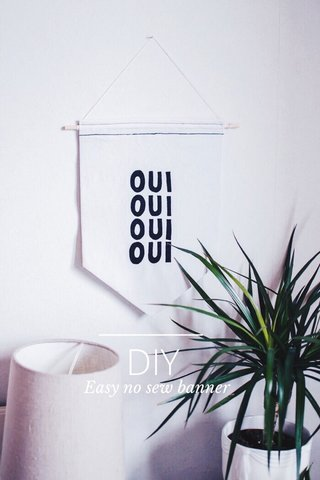 DIY Easy no sew banner